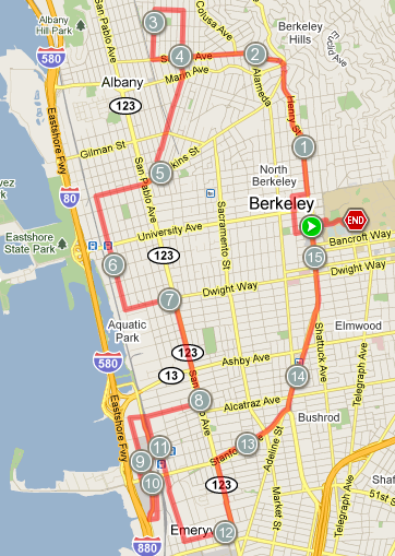 EBBP Ride Map - Sept. 2010